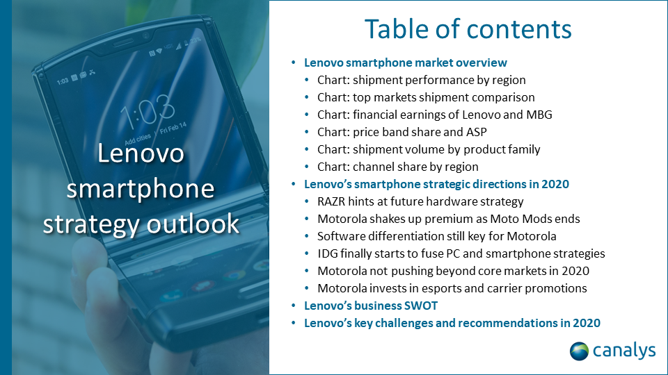 Lenovo smartphone strategy outlook 2020