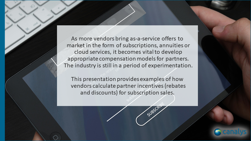 IT-as-a-service compensation models for partners